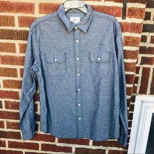 Surfside Supply Grey Button Down Dress Shirt